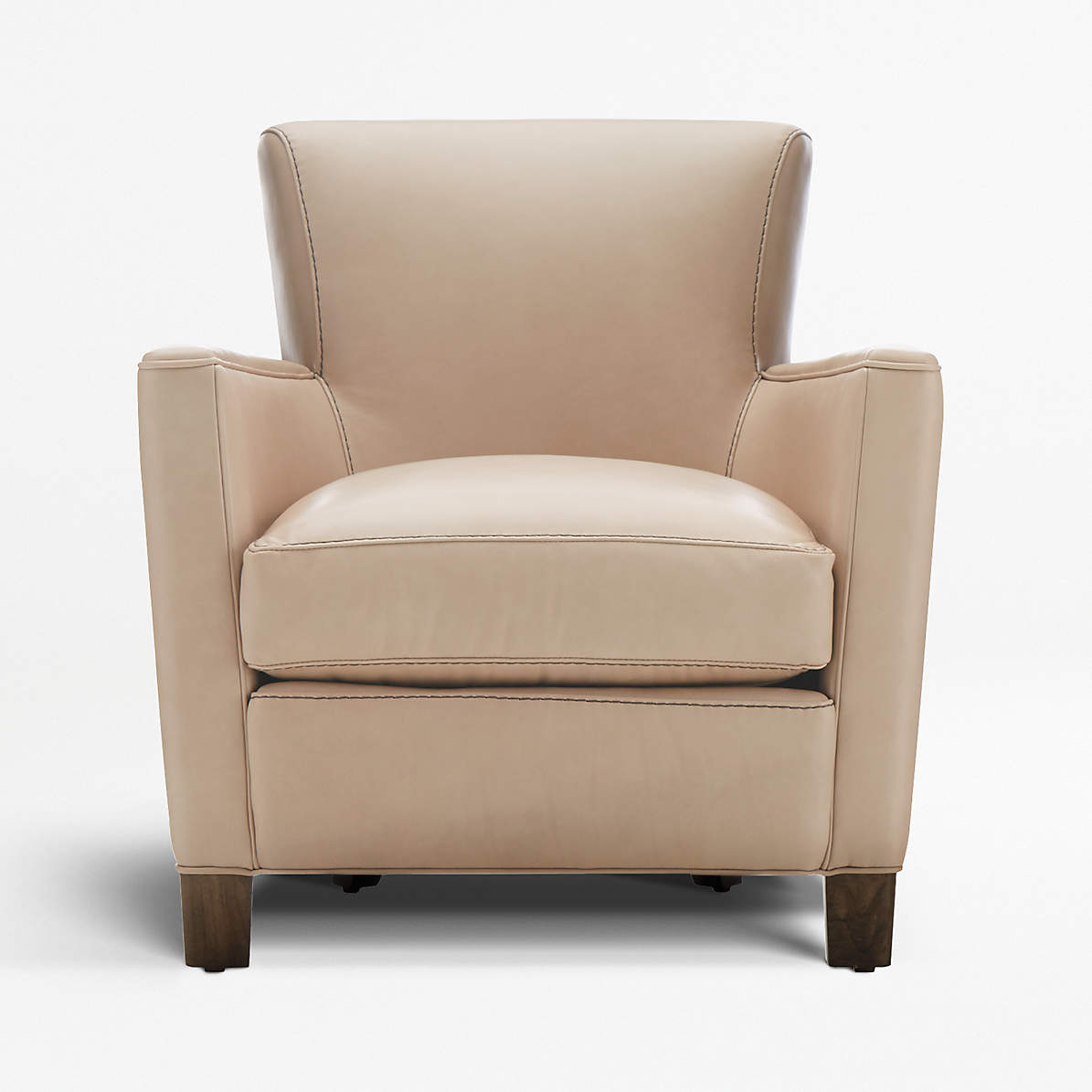 Picture of: Briarwood Modern Leather Club Chair Reviews Crate And Barrel Canada
