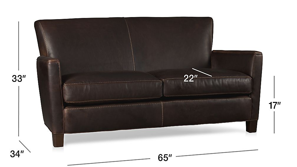 Briarwood Brown Leather Loveseat Crate And Barrel