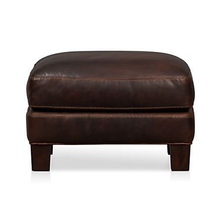 Terrific Briarwood Leather Ottoman Reviews Crate And Barrel Gmtry Best Dining Table And Chair Ideas Images Gmtryco