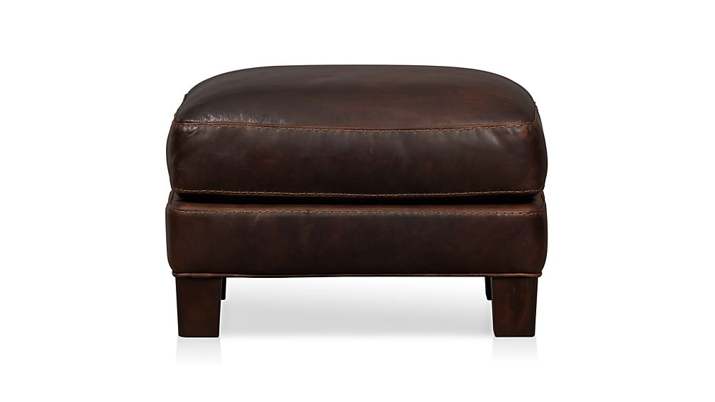 Briarwood Leather Ottoman In Ottomans Amp Cubes Reviews