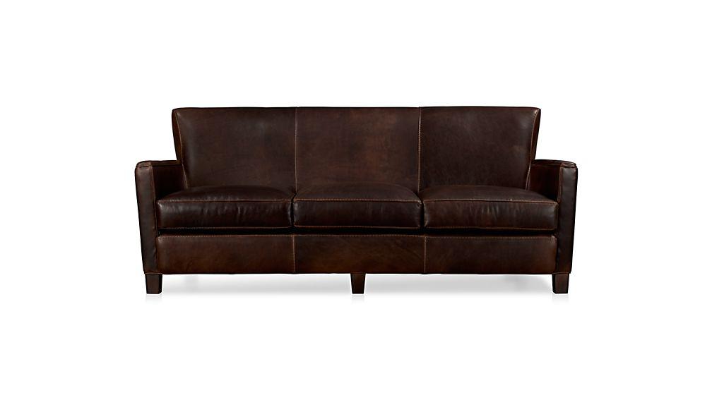 briarwood leather sofa reviews crate and barrel. Black Bedroom Furniture Sets. Home Design Ideas