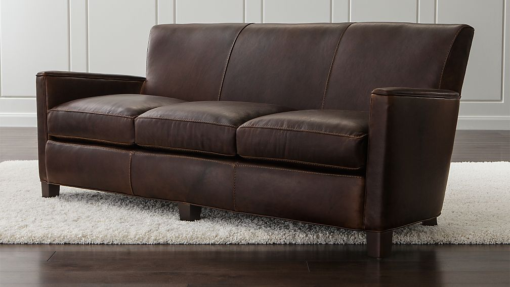 Briarwood Leather Sofa + Reviews | Crate and Barrel