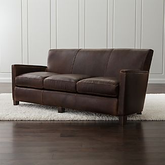 Charmant Briarwood Leather Sofa