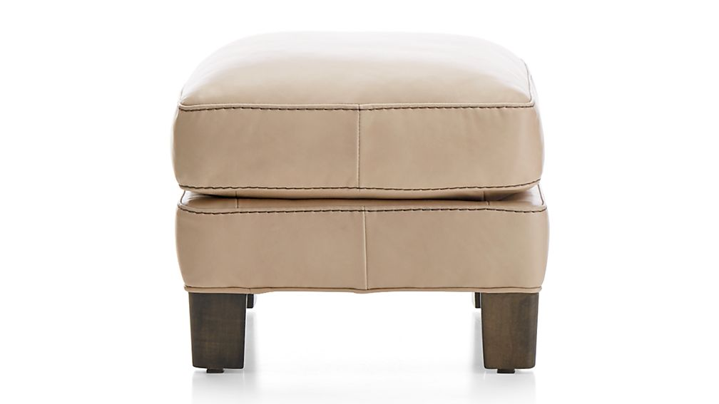 Briarwood Leather Ottoman