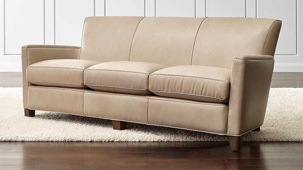 Briarwood Leather Sofa Crate And Barrel