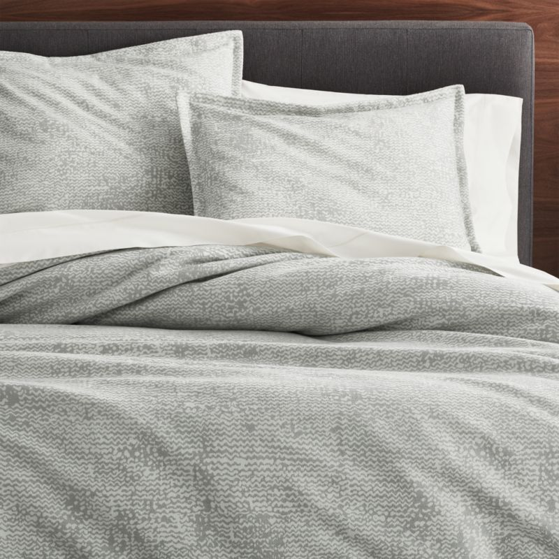 Brice Grey Patterned Duvet Covers And Pillow Shams