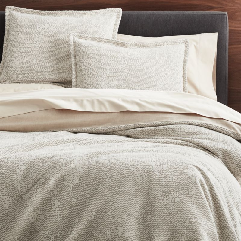 Brice Natural Patterned Duvet Covers And Pillow Shams