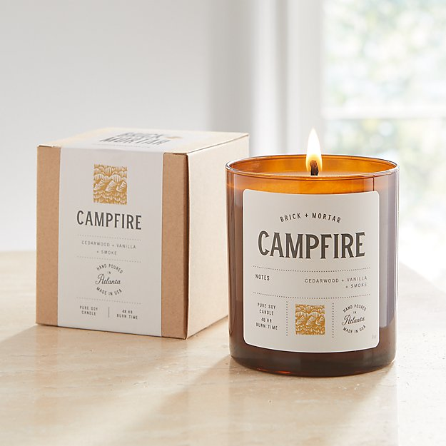 Brick and Mortar Campfire-Scented Candle - Image 1 of 3