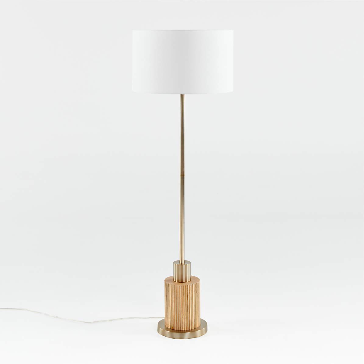 Bridaine Wood Brass Floor Lamp Crate And Barrel