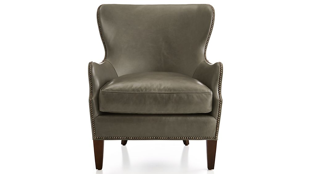 Brielle Leather Wing Chair