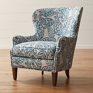 Brielle Nailhead Wingback Chair : occasional chairs swivel - Cheerinfomania.Com