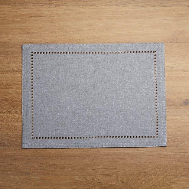 Briggs Grey Placemat - Image 1 of 4