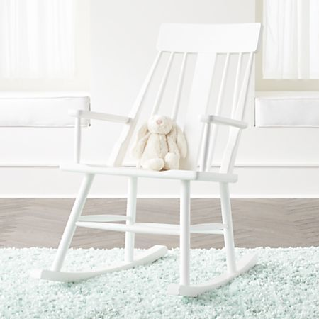 Cool Brighton Mid Century White Rocking Chair Crate And Barrel Bralicious Painted Fabric Chair Ideas Braliciousco