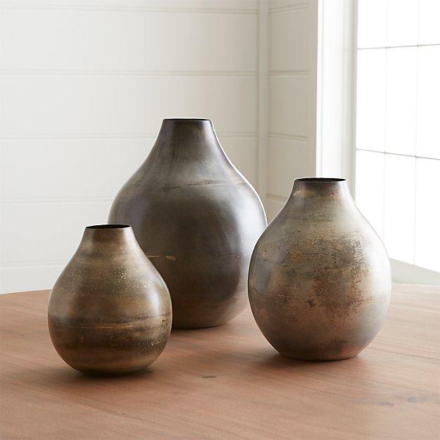 Bringham Metal Vases Crate And Barrel