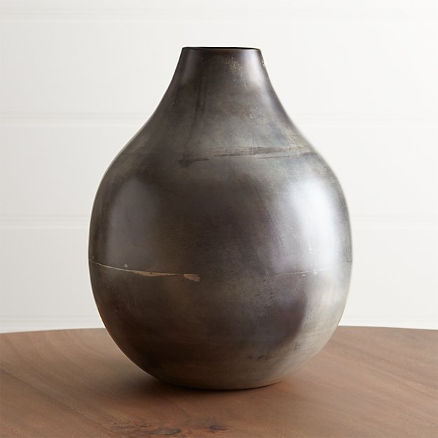 Bringham Large Metal Vase Reviews Crate And Barrel