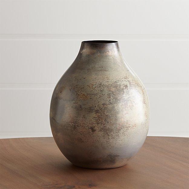 Bringham Medium Metal Vase - Image 1 of 13