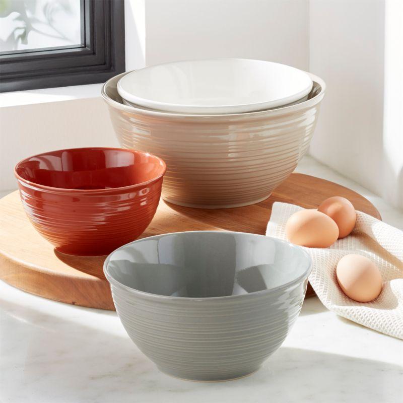 Bristol Kitchen Bowls Set Of 4 Reviews Crate And Barrel