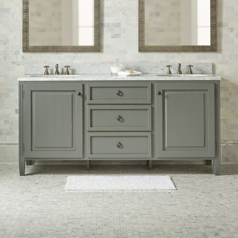 Bathroom Mirrors Crate And Barrel britta double vanity | crate and barrel