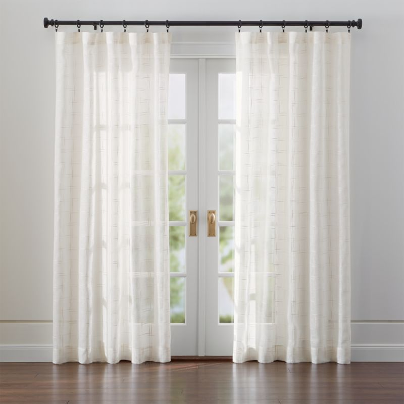 Briza Sheer Cream Linen Curtains