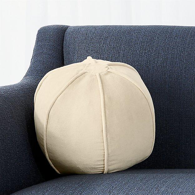 """Brenner Sesame 12"""" Sphere Velvet Pillow"""