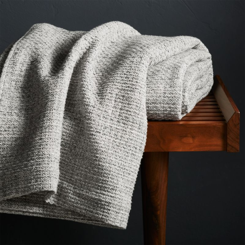 Bromley Waffle Weave Blanket by Crate&Barrel