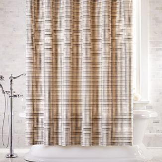 Brompton Grey Plaid Shower Curtain