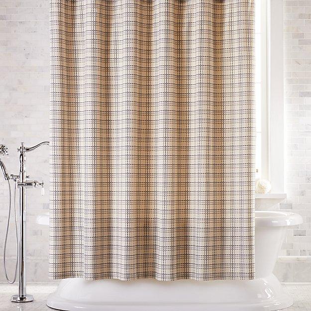 Brompton Grey Plaid Shower Curtain - Image 1 of 2