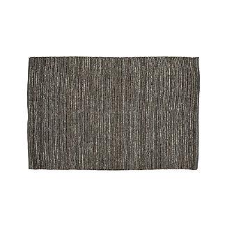 Bronte Grey Textured Jute Rug 5'x8'