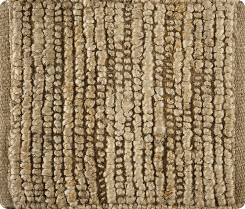 Bronte Natural Textured Jute Rug Swatch Crate And Barrel
