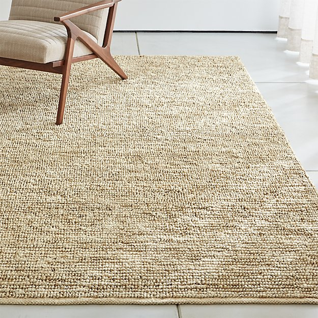 Bronte Parchment Textured Jute Rug - Image 1 of 6