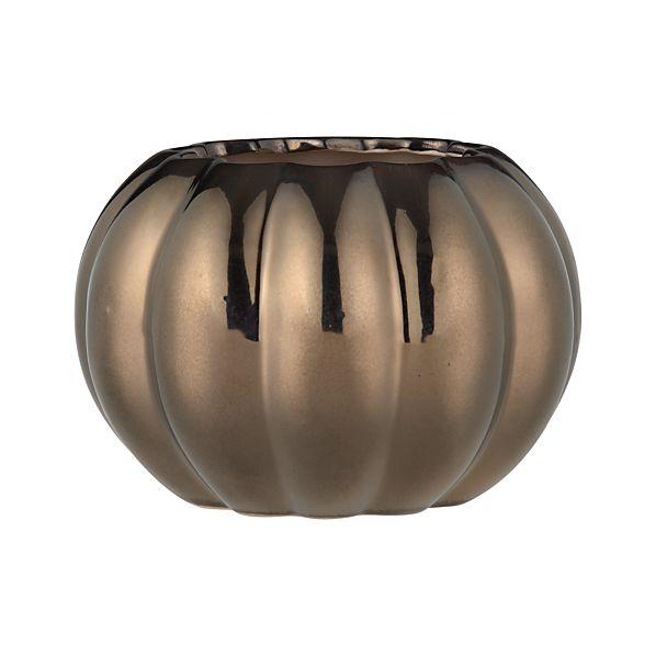 Bronze Pumpkin Large Vase