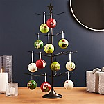 Bronze with Brass Solder Ornament Tree with 12 Days of Christmas Ornaments