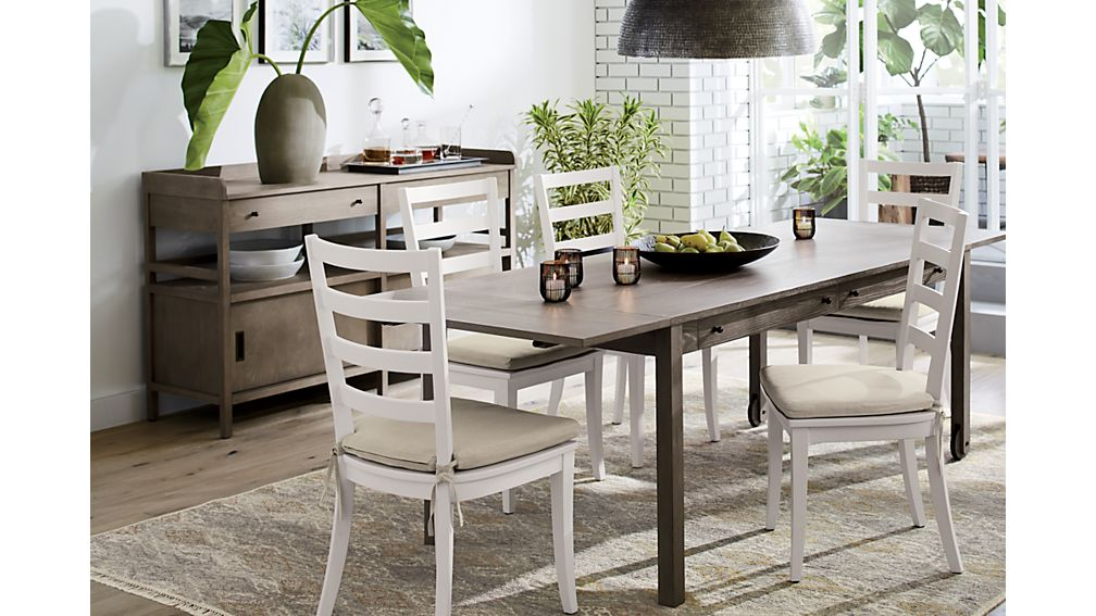 Brookline Grey Dining Table with Storage | Crate and Barrel