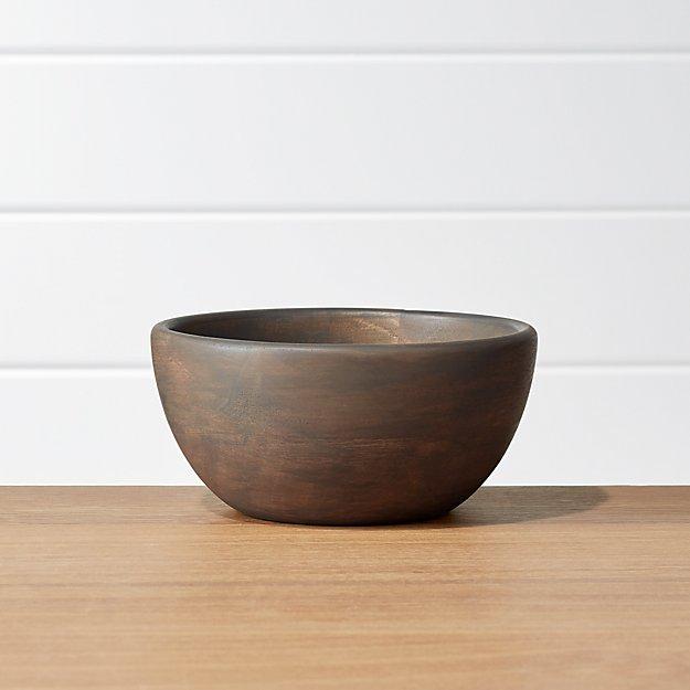 Brooks Grey Wood Bowl - Image 1 of 4