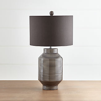 Brooks Grey-Striped Table Lamp