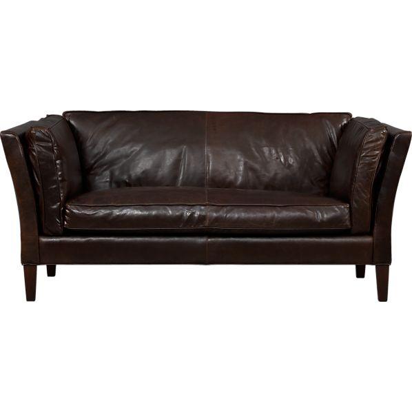 Brooks Leather Settee