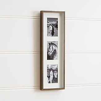 Brushed Antique Bronze 3-4x6 Frame