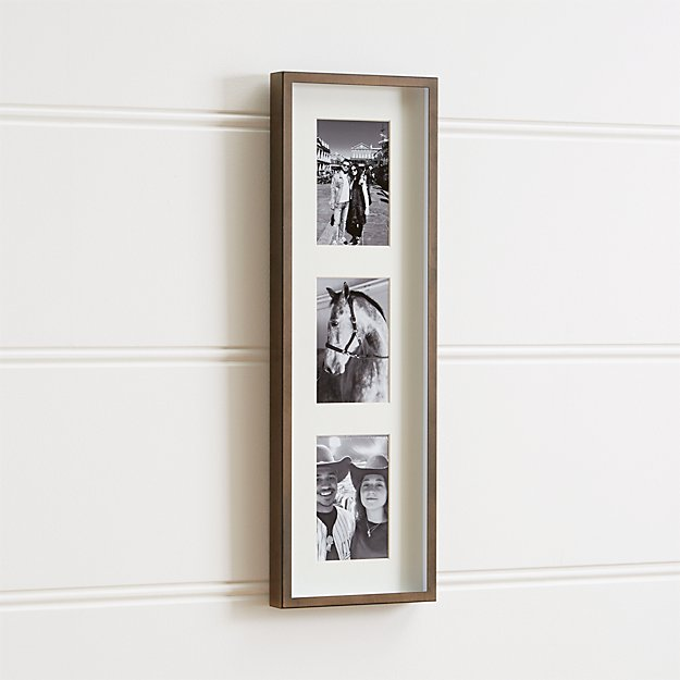 Brushed Antique Bronze 3-4x6 Frame + Reviews | Crate and Barrel
