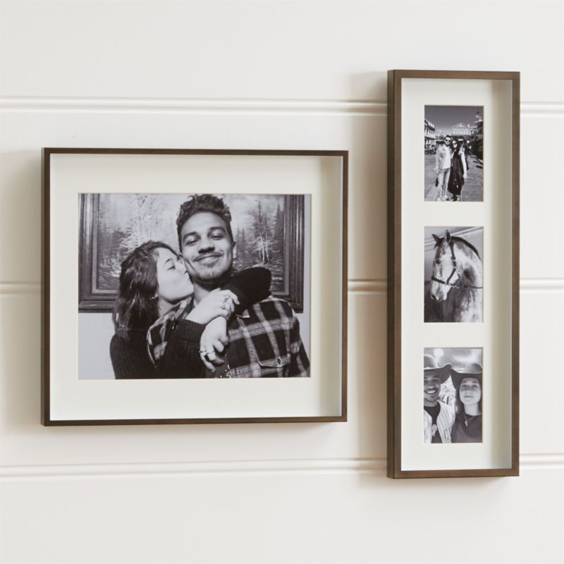 Wall Picture Frames brushed antique bronze wall frames | crate and barrel