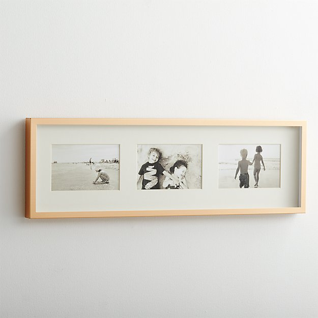 Brushed Brass Wall Frames | Crate and Barrel