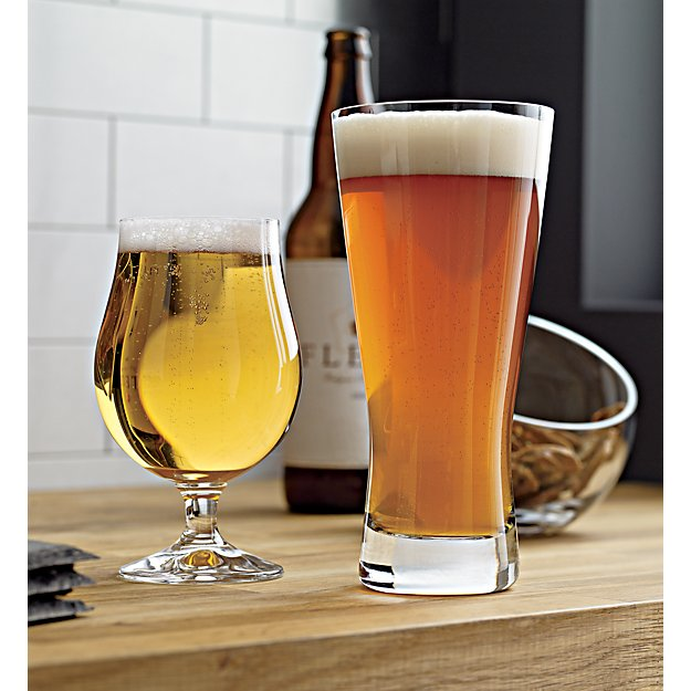 Cb2 Free Shipping >> Bruges Beer Glass in Beer Glasses + Reviews   Crate and Barrel
