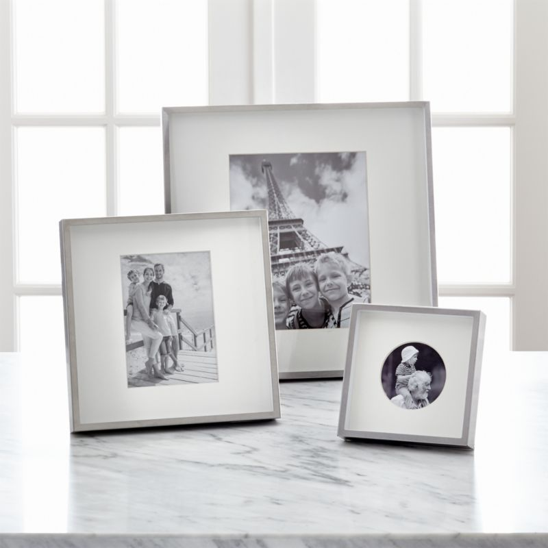 Brushed Silver Picture Frames Crate And Barrel