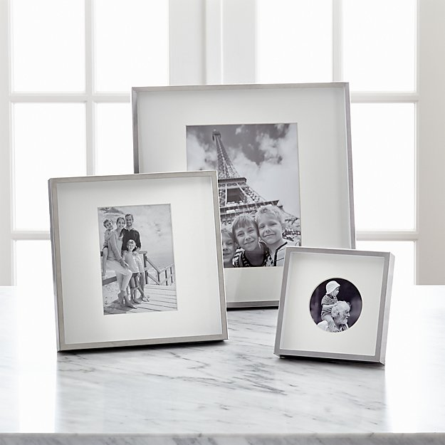 Brushed Silver Picture Frames