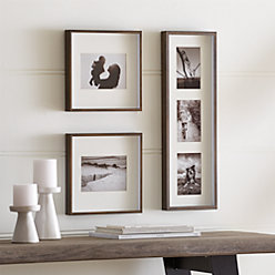 Brushed Antique Bronze Picture Frame Gallery, Set of 3
