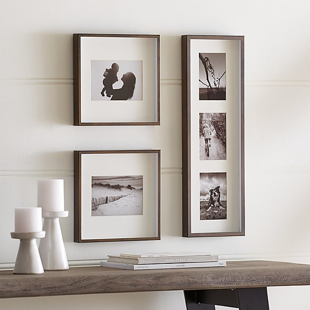 Brushed Antique Bronze Picture Frame Gallery, Set of 3 + Reviews ...