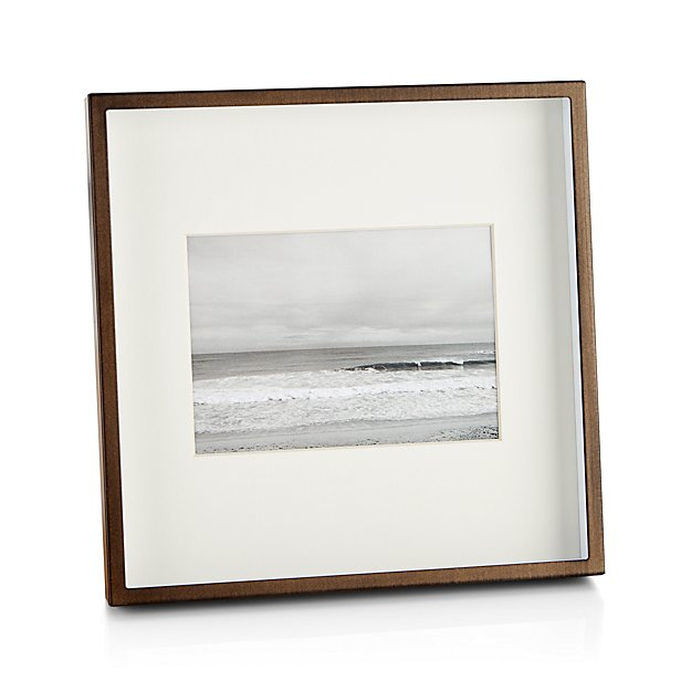 Brushed Antique Bronze 5x7 Frame + Reviews | Crate and Barrel