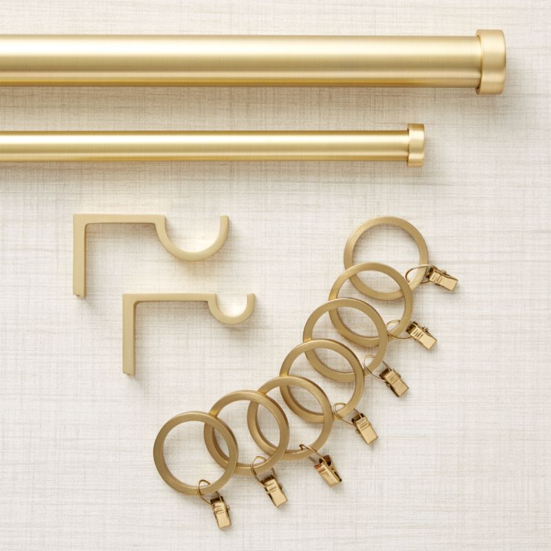 Curtain Rods, Tie Backs, Rings & Hardware | Crate and Barrel