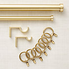 CB Brushed Brass Curtain Hardware