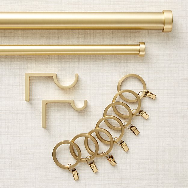Brushed Brass Curtain Hardware