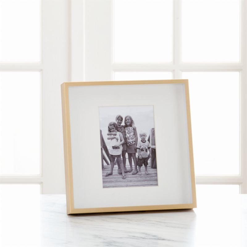 Brushed Brass 5x7 Frame + Reviews | Crate and Barrel